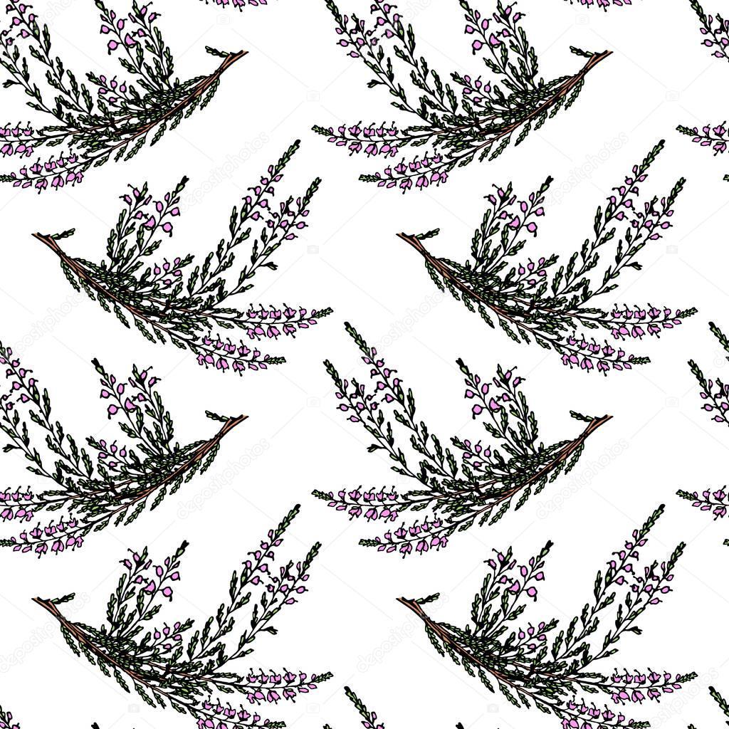 Heather seamless pattern