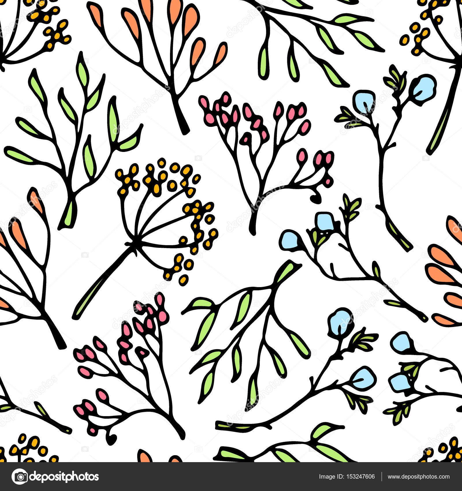 Dessin de fleurs de printemps image vectorielle ezhevica 153247606 - Dessin fleurs printemps ...