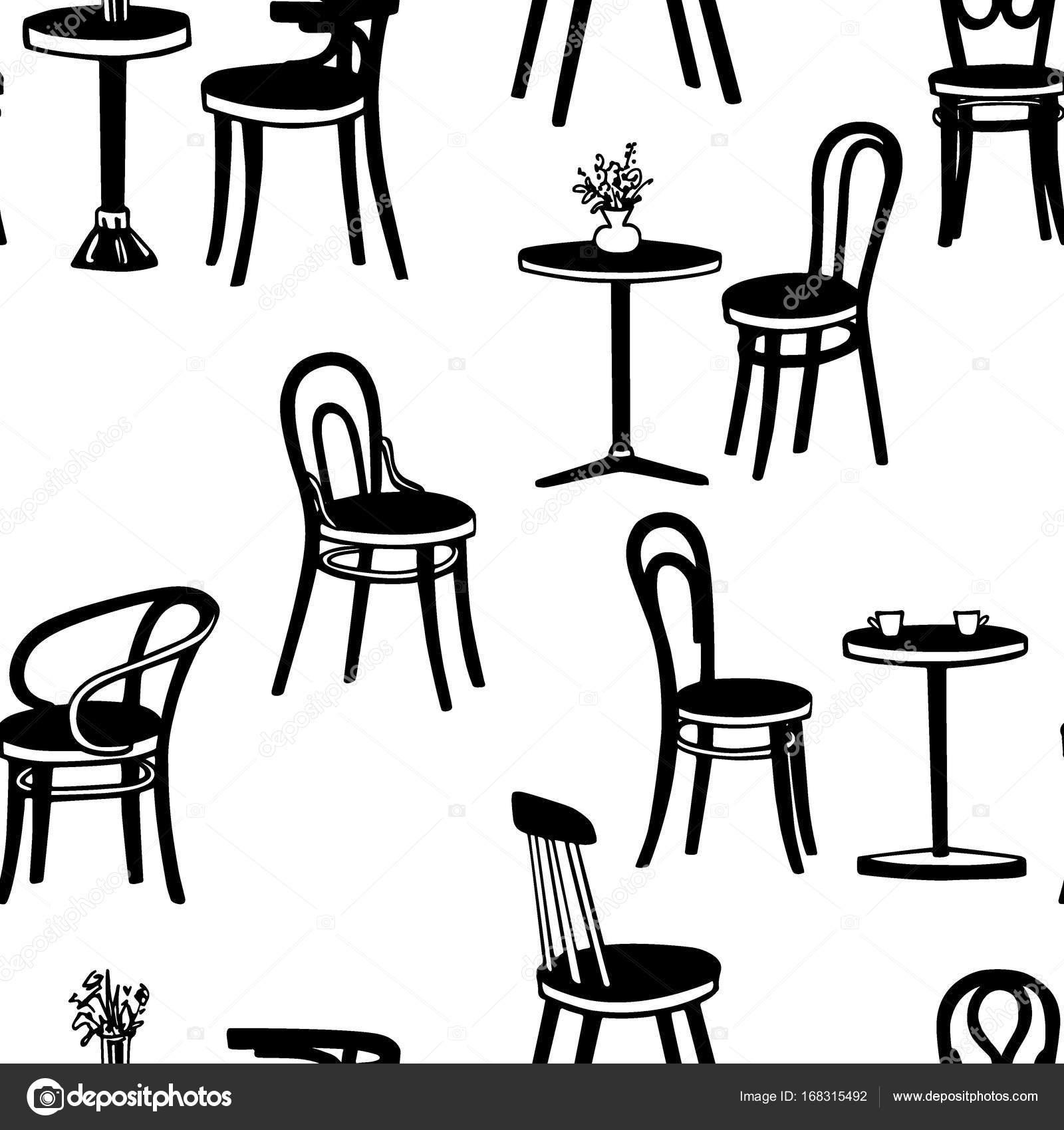 Patr N De Muebles De Cafeter A Vector De Stock Ezhevica 168315492 # Muebles Postmodernos
