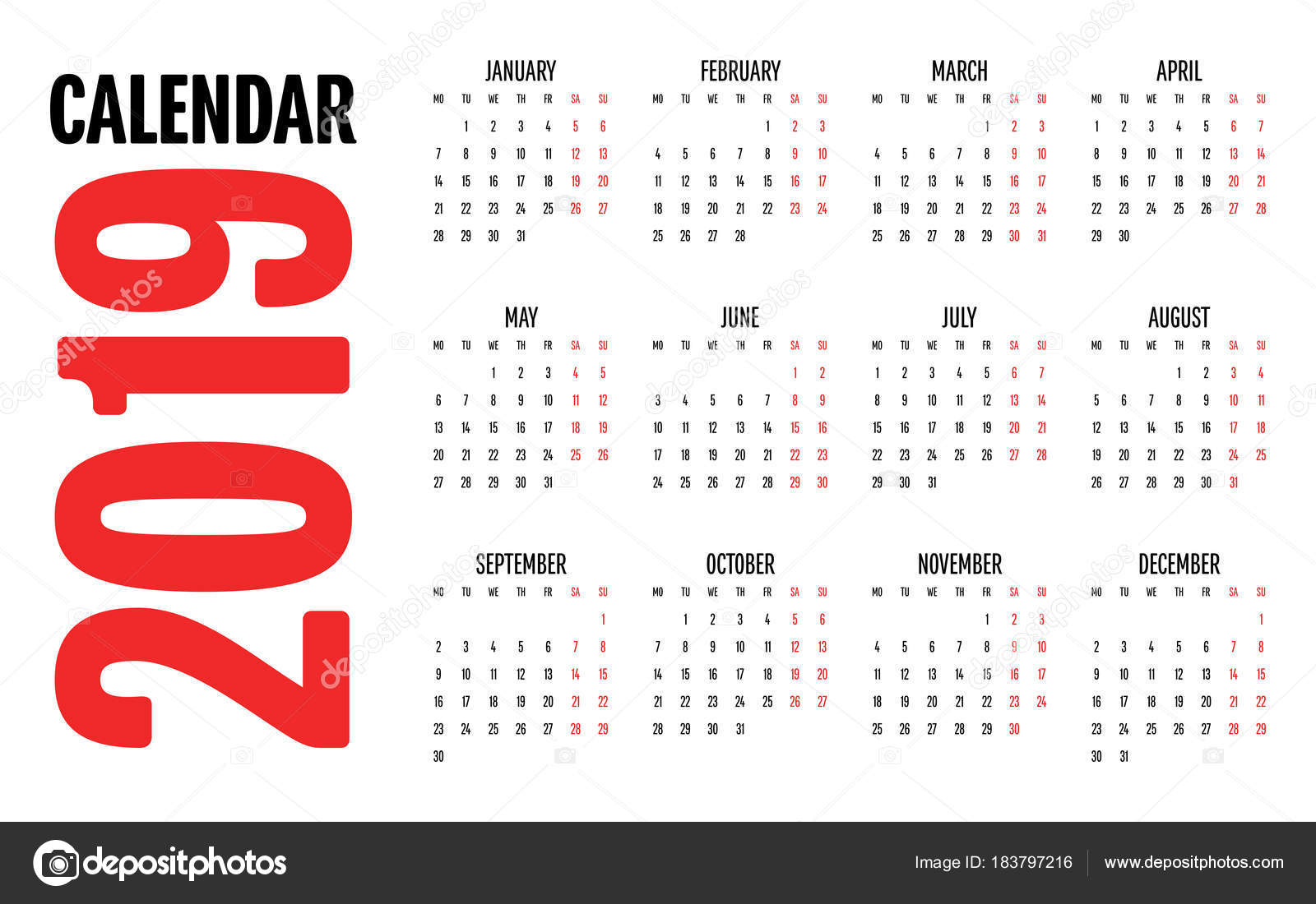 2019 naptár 2019 Calendar Design Template Vector Illustration Simple Clear  2019 naptár
