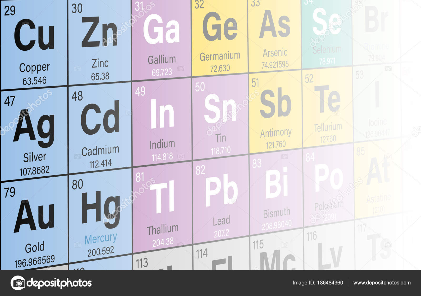 Periodic table elements colorful perspective background vector periodic table elements colorful perspective background vector illustration stock vector urtaz Choice Image