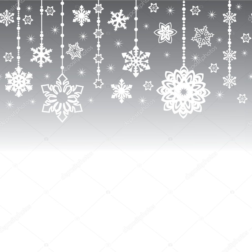elegant new year background winter holiday background made of snowflakes with blank space your text vector by konevaelviragmailcom