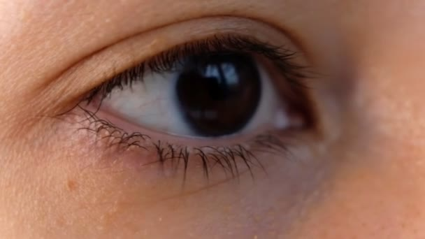 close up beautiful asian woman eye opening looking at camera healthy eyesight feminine beauty ethnic female.