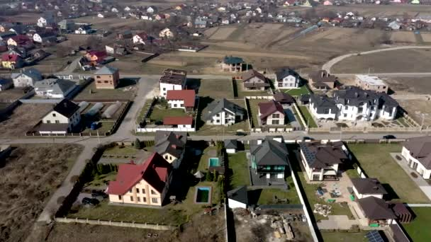 légi kilátás házak Ukrajna lakótelepek, néhány épület tetőpanelek