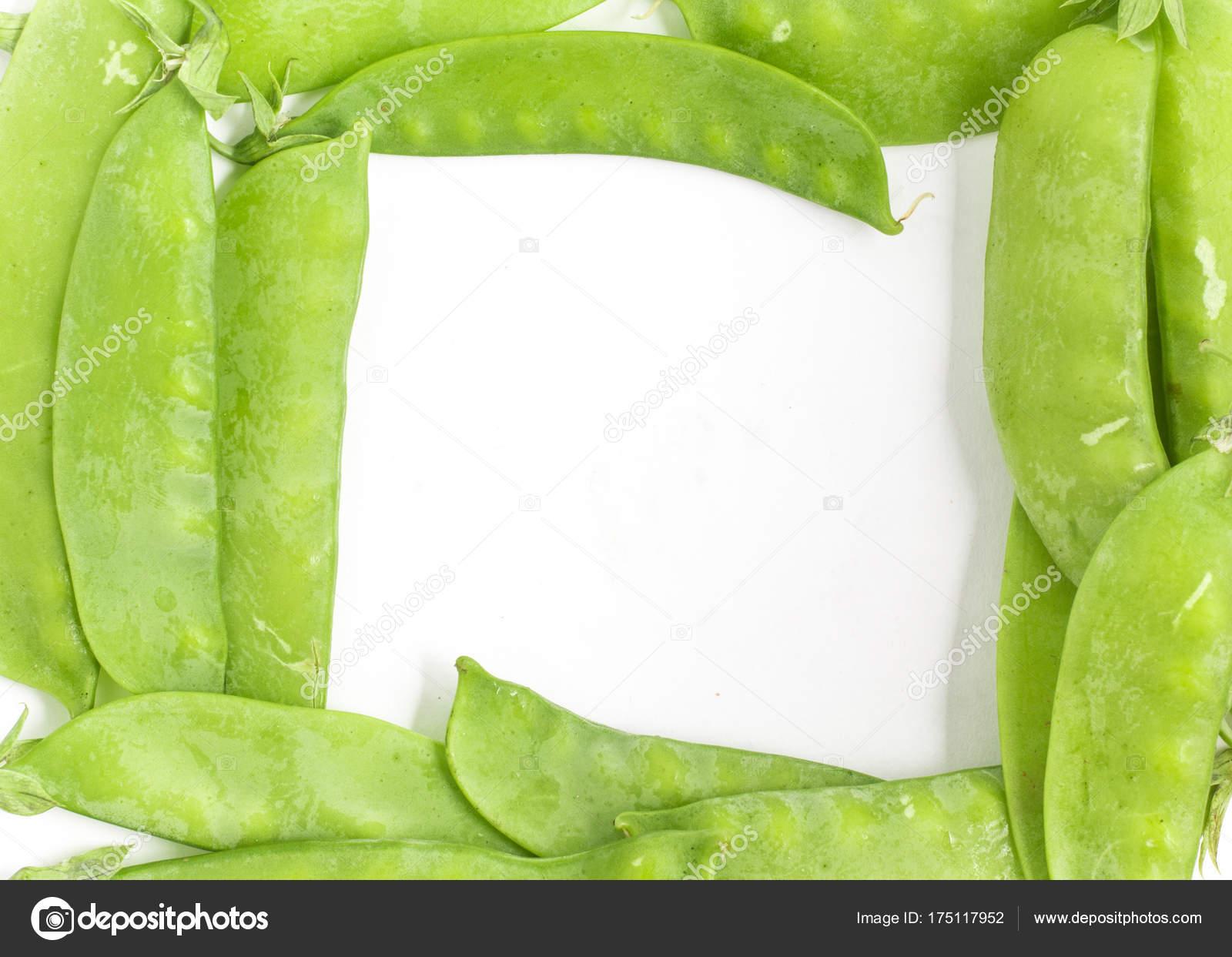 Green Pea Pod Torta Frame. — Stock Photo © barkstudio #175117952