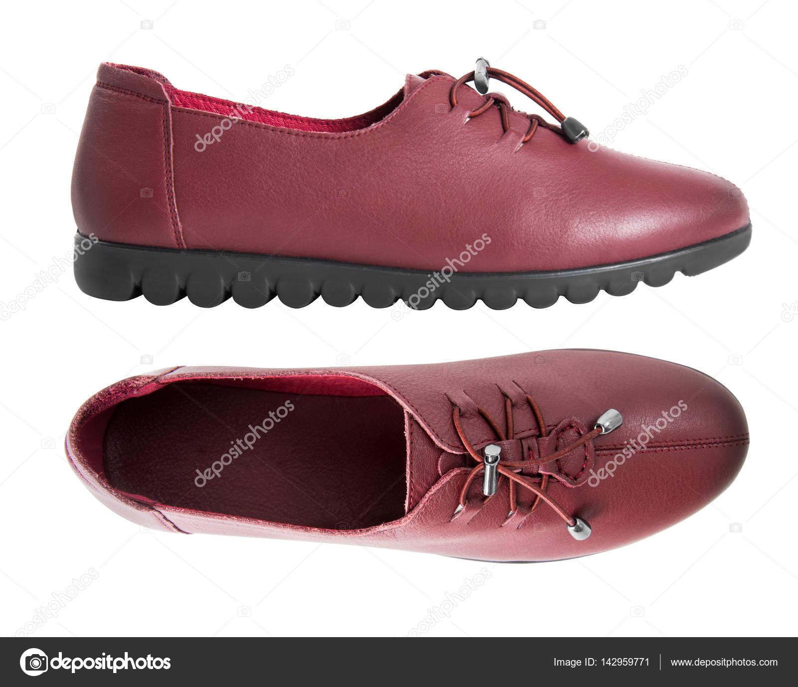 Cuir Belle De Chaussures Paire Vintage Femme Mode Avec Profil Nvmn80w