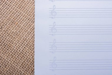 An empty note paper for musical notes