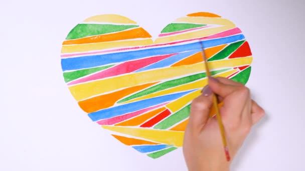 Šťastný Valentines day koncept. Srdce na papír.