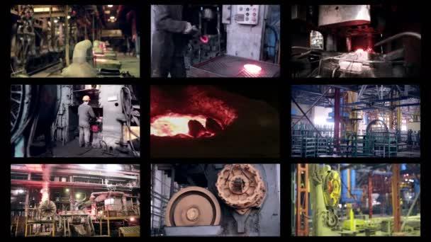 Továrna na těžký průmysl. Abstraktní pozadí průmyslové montáže.
