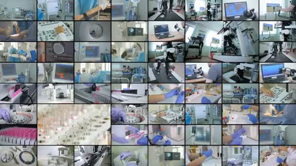 Nemocniční zařízení koláž. Koncepce přípravek