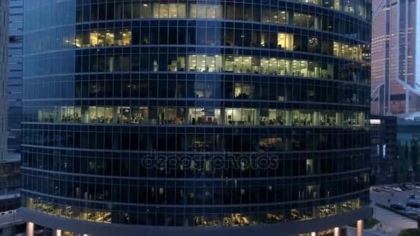 Небоскребы Московского международного делового центра в ночное время ... 469f29b2448