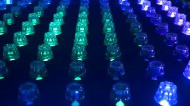 Night club lights. Vivid background. 4K.