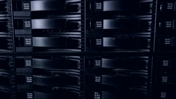 Cryptocurrency mining concept. Supercomputer 4K.