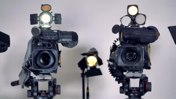Professzionális videokamerák a professzionális külső mikrofon.