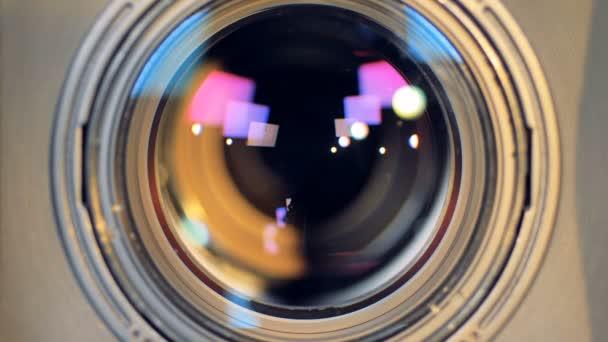 Ein Makro-Ansicht eines Kameraobjektivs arbeiten