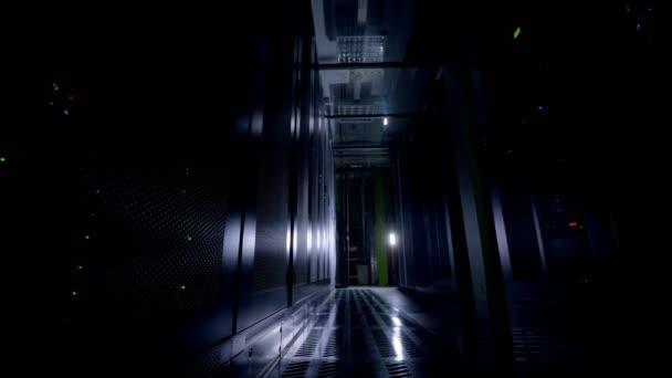 Dark serverovny. Síťové servery v datovém centru.