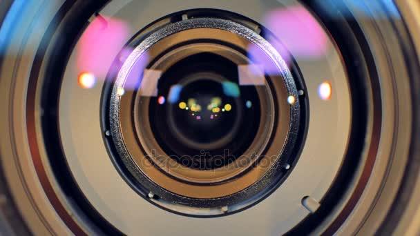 A makró kilátás egy kamera lencséje egyre inkább elmosódik.