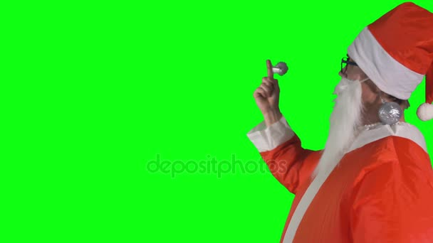 Chroma klíč pozadí s Santa Claus Pořadatel