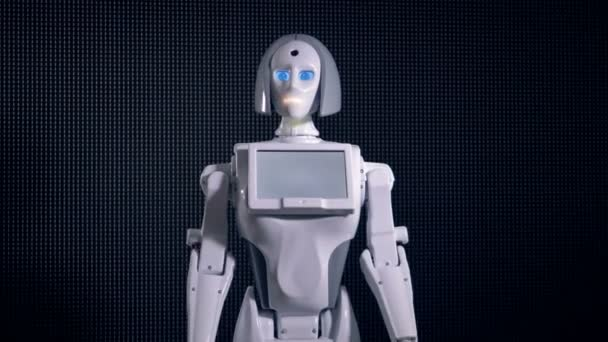 Tělo bílé bionic ženy posunů.