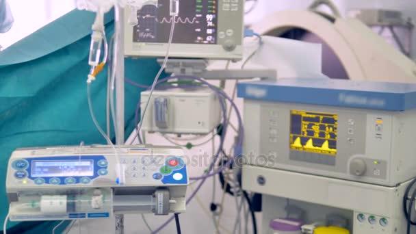 Zobrazí se obrazovka nemocniční pacienti zdravotní parametry