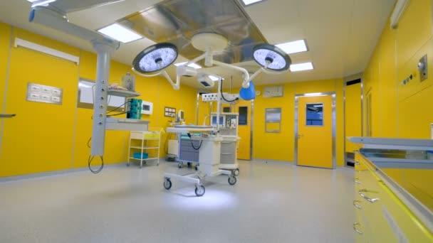 Nepoužité chirurgické tabulka pod lékařský křižovatkou pracovní vybavení. 4k