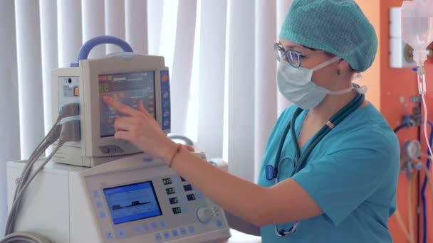 Ženský lékař lékařské zařízení