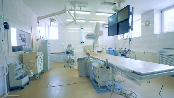 Modern equipment, medical machines in an operating room.