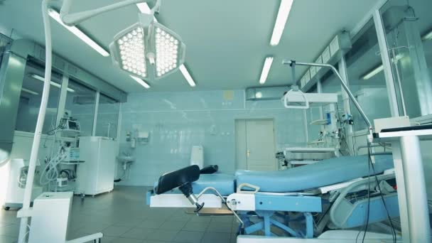 Inside view of hospitals delivery unit with inventory