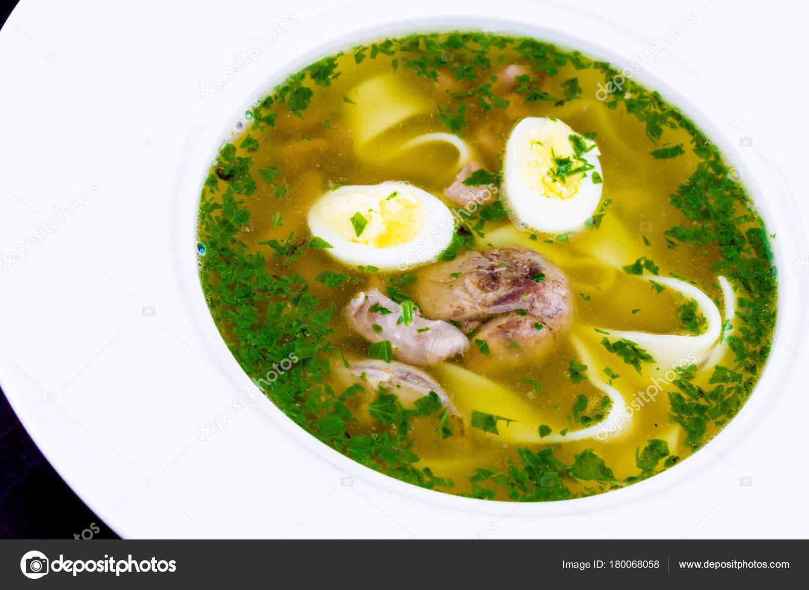 Суп из перепелиного мясо — 1