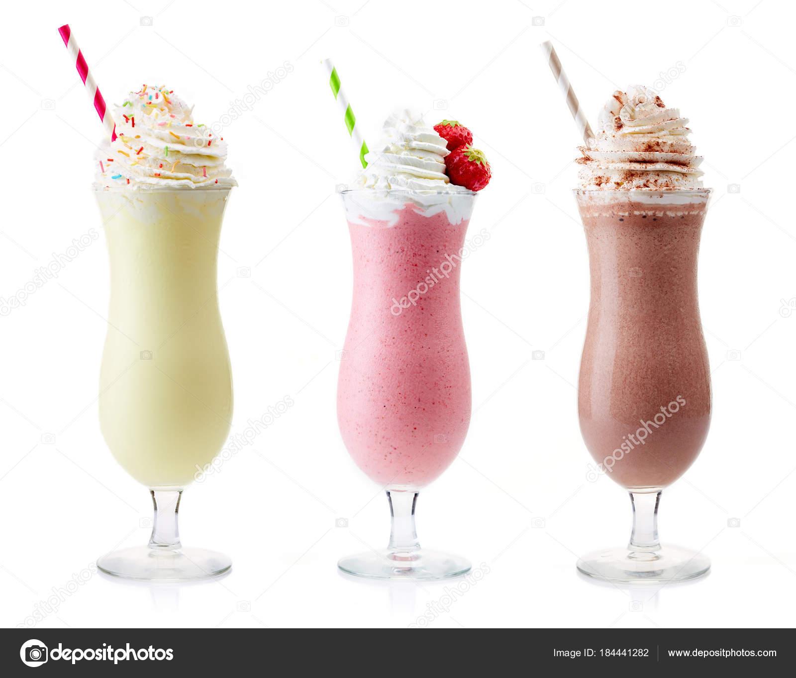 Vanille Fraise Et Chocolat Milkshake Photographie Bigacimgmail