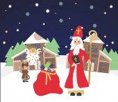 Mamina co bych píchal Mikuláše čerta a anděla, Pozvánka na vánoční, kartou