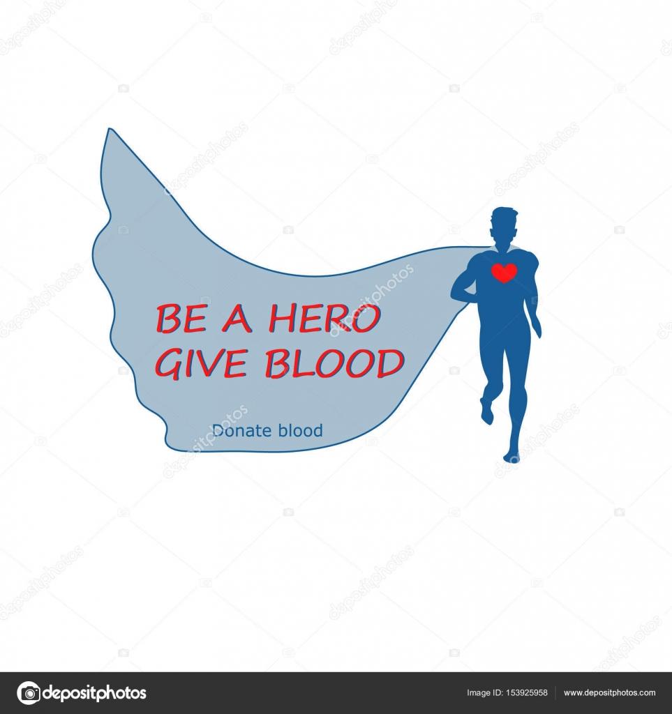 血寄付のデザイン テンプレートです ベクトルの図 スーパー ヒーローと