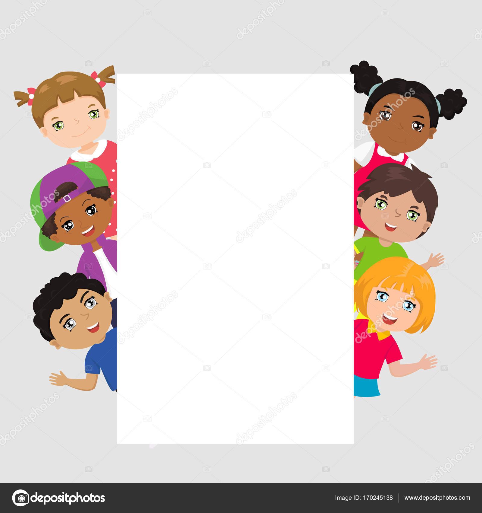 cdde86c950bb Cute cartoon kids frame. Place for text — Stock Vector © pidzam4e ...