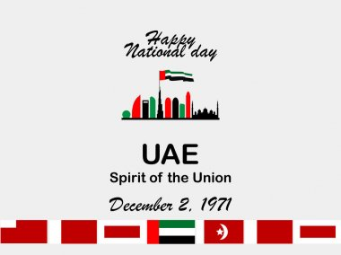 vector illustration celebration Dec. 2 national day of the United Arab Emirates.