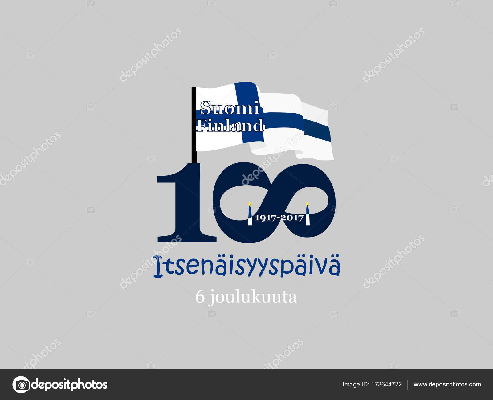 Finland Independence Day Greeting Card Translation From Finnish