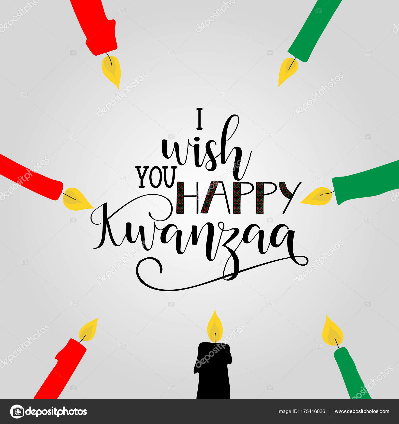 Happy Kwanzaa Decorative Greeting Card Celebration Honors African