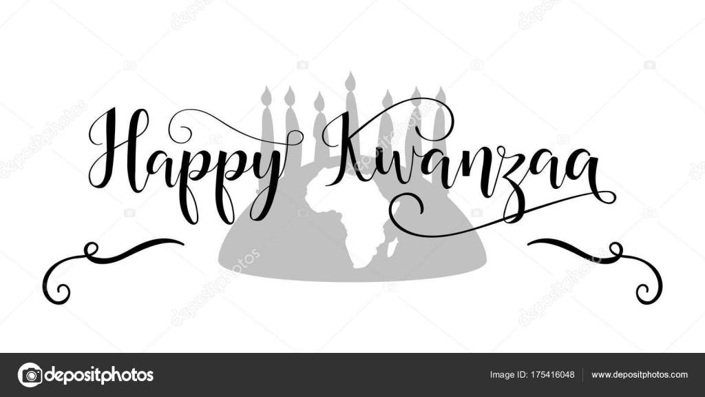 Happy kwanzaa decorative greeting card celebration honors african happy kwanzaa decorative greeting card the celebration honors african heritage in african american culture vector by pidzam4er kristyandbryce Gallery