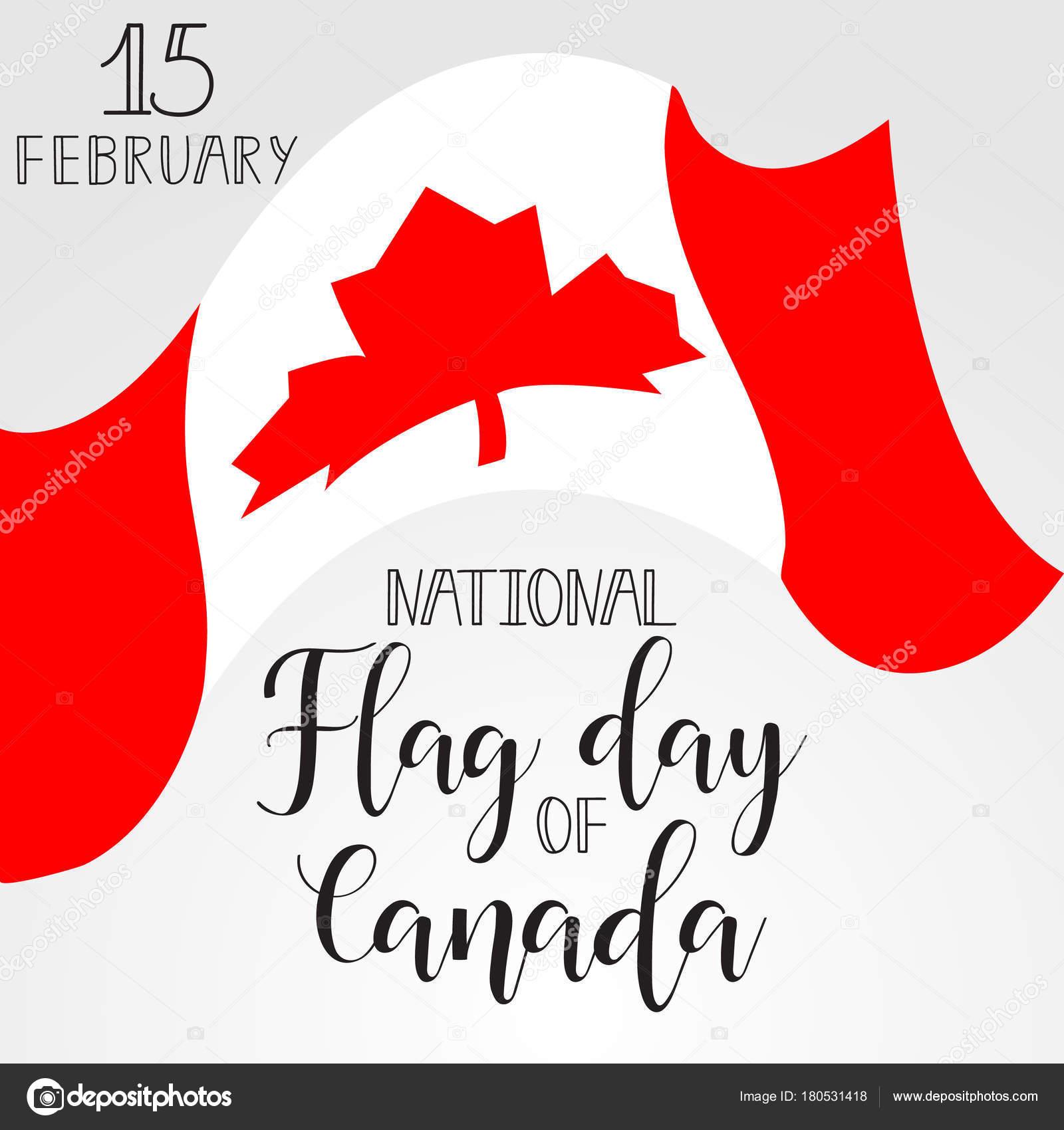 Nacional tarjeta de felicitación del día de la bandera de Canadá ...
