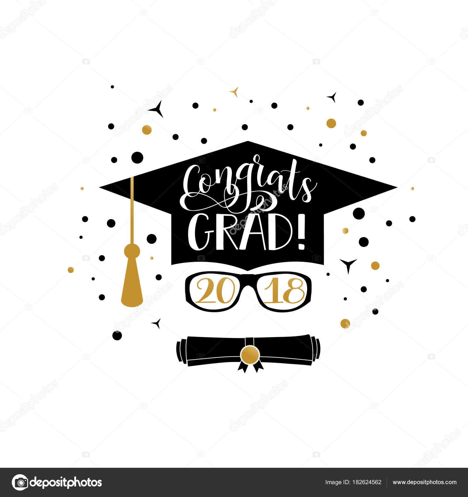 gefeliciteerd met je afstuderen Congrats Grad 2018 belettering. Gefeliciteerd afgestudeerde banner  gefeliciteerd met je afstuderen