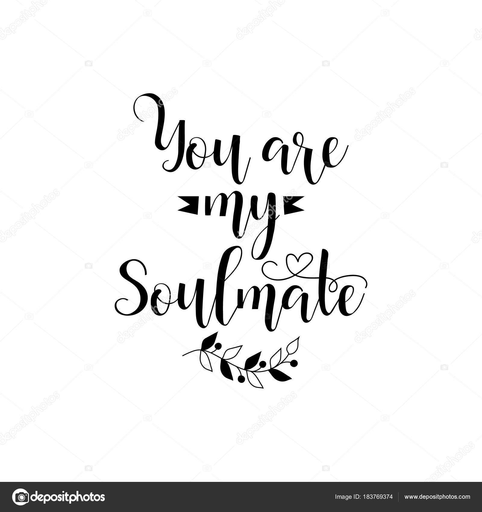 Você é Minha Alma Gêmea Frase Para Dia Dos Namorados Caligrafia De