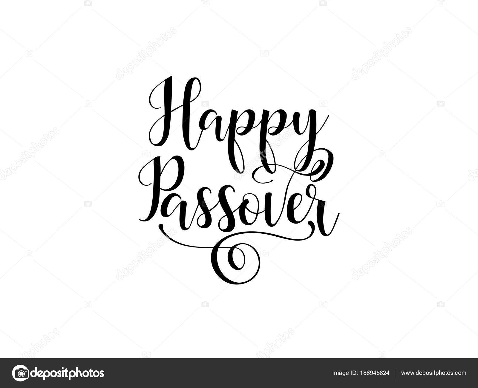 Happy passover traditional jewish holiday handwritten text vector happy passover traditional jewish holiday handwritten text vector illustration for greeting cards banners m4hsunfo