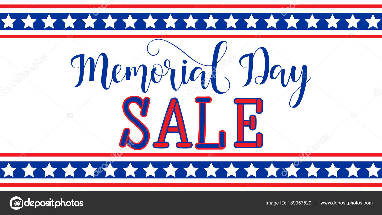 memorial day sale banner template design national american holiday