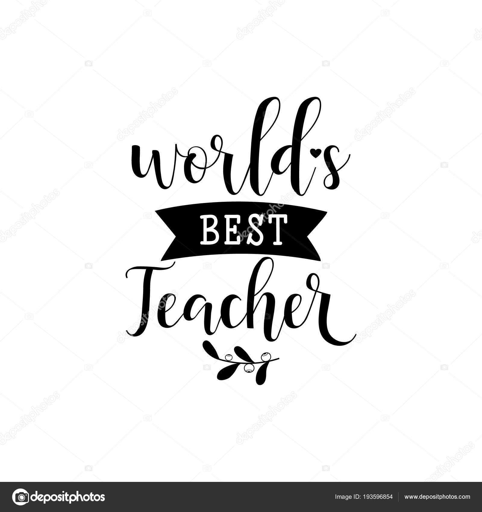 d3051e8394cd Миров лучший учитель. Векторная Иллюстрация на белом фоне. День ...