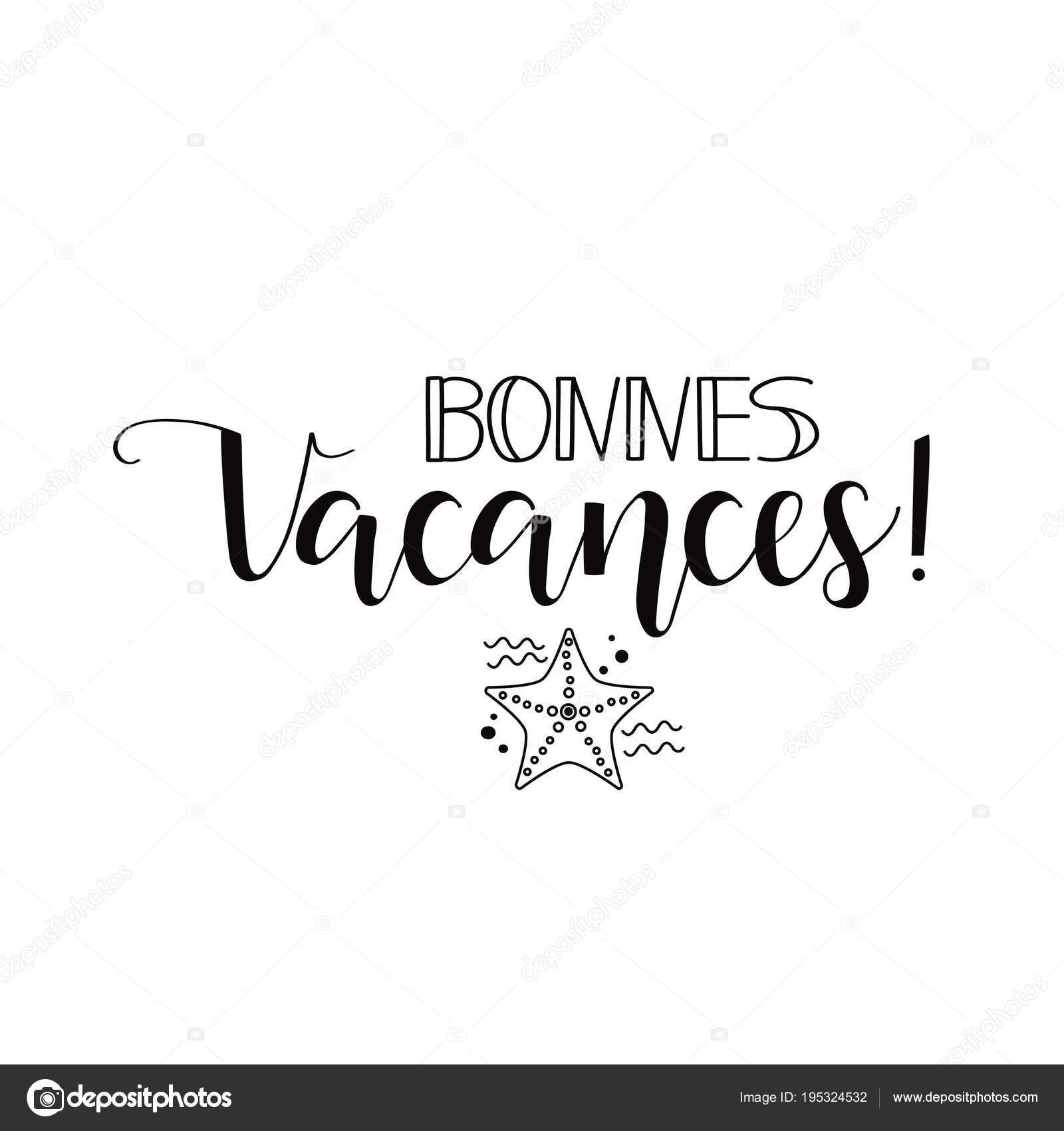 Bonnes Vacances Boas Festas Em Língua Francesa Mão