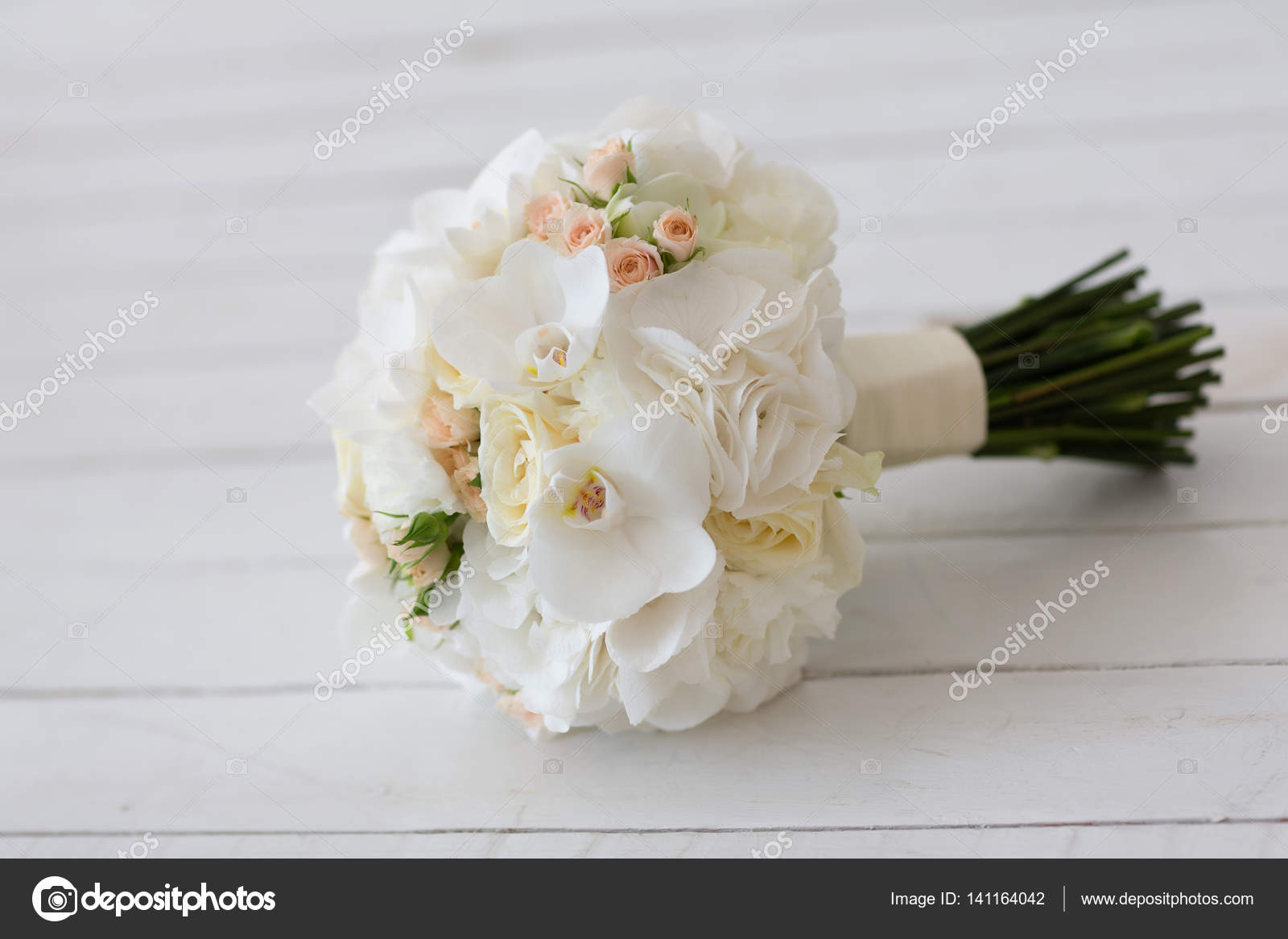 Wedding Bouquet Of White Orchids Stock Photo Zagursky85ail