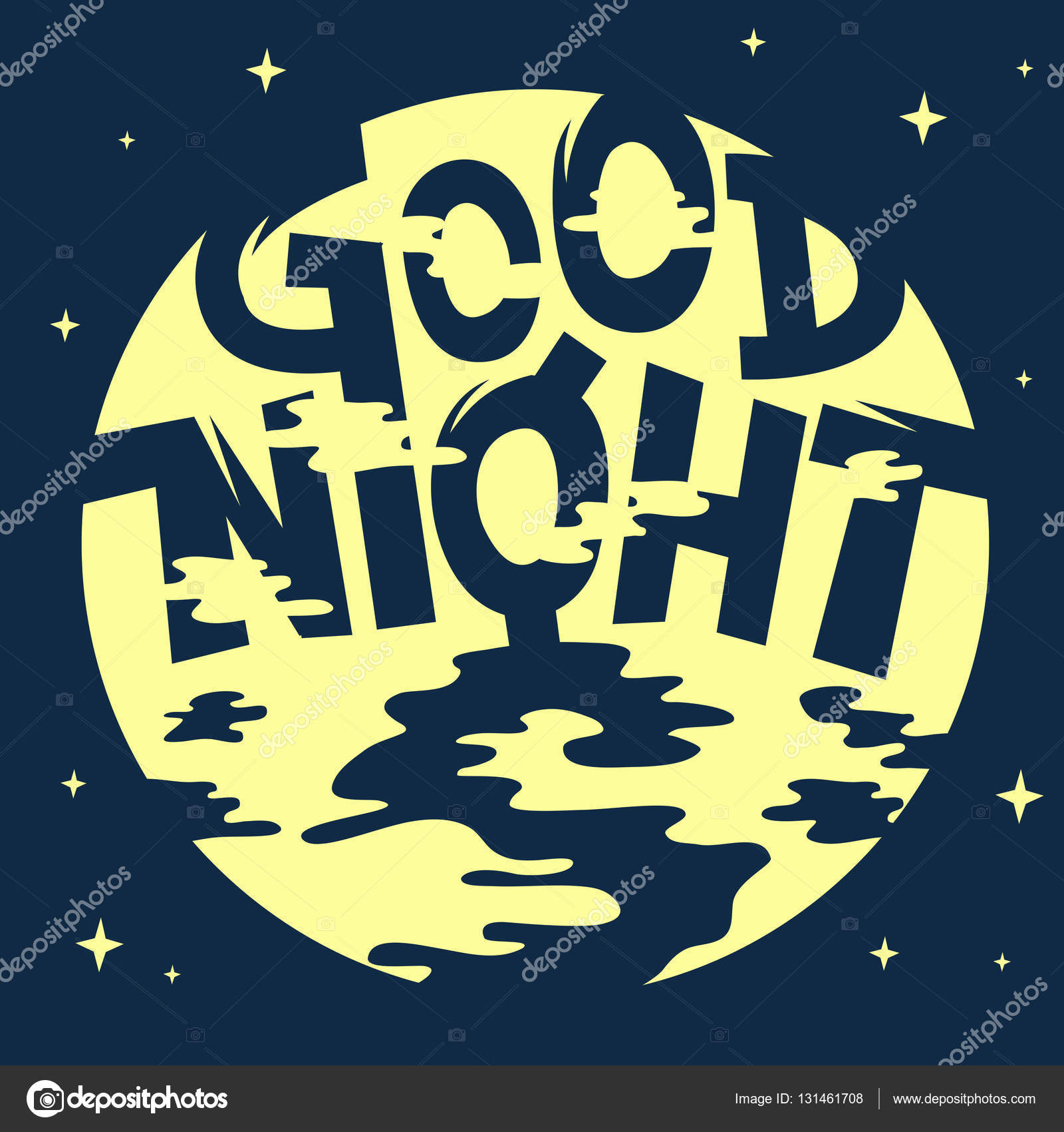 Vettore Buonanotte Artistica Buona Notte Artistica