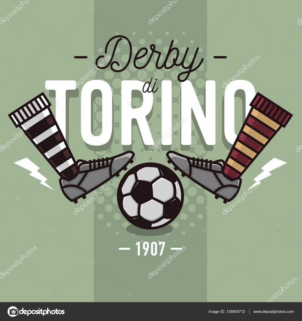 Da In Calcio Palla Immagine Italiano Torino E Design Anton345 Label Vettoriale Scarpe Piatto Di Vettoriali Linea Derby Sottile — Illustrazione qPEfwBE6