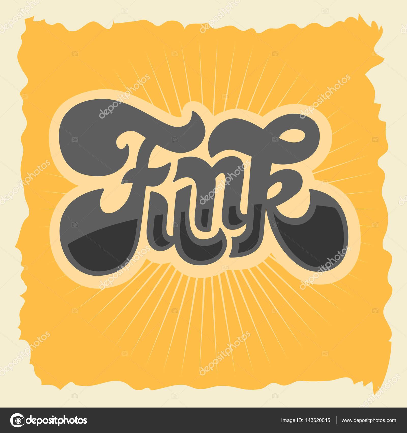 ファンク ラベル サインタイプ カスタム デザイン 70 年代のレタリングし