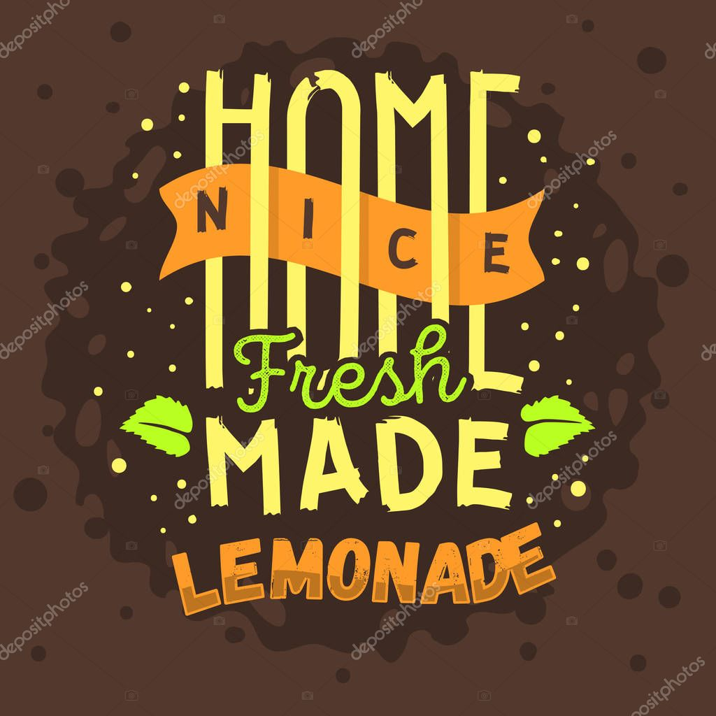 Homemade Lemonade Typographic Logo Label Type Design  A  Mint Le