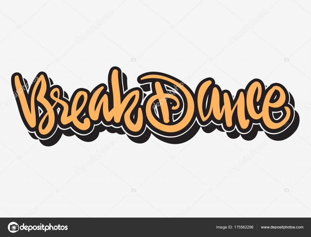 breakdance hip hop graffiti tag style benutzerdefinierten typ design schriftzug stockvektor. Black Bedroom Furniture Sets. Home Design Ideas